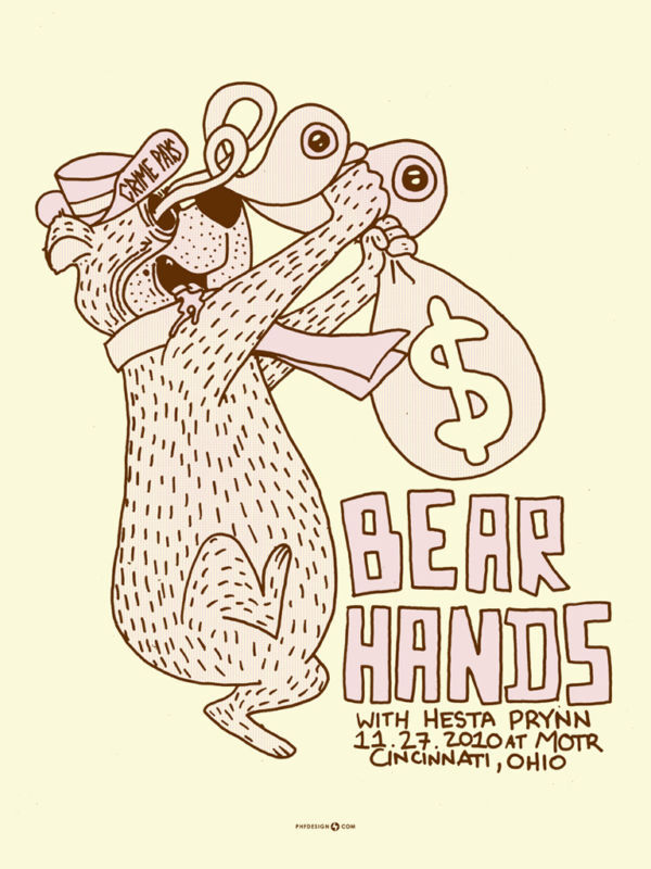 Bear Hands November 2010 Limited Edition Gig Poster