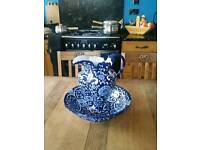 Large Blue and White Jug Eure and Basin