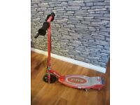 Kids electric Razor scooter in red - hardly used