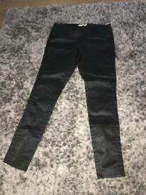 DP wax coated jeggings size 14R