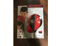 Children's punching ball with gloves