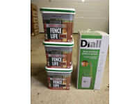 Ronseal One Coat Sprayable Fence Life paint 3 5L tubs (2 Med Oak, 1 Black Oak) + sprayer all for £10