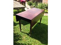 Fold Out Dark Wood Table