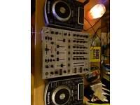 Ndx400 decks and mixer