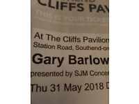 Gary Barlow balcony ticket southend **good seats*