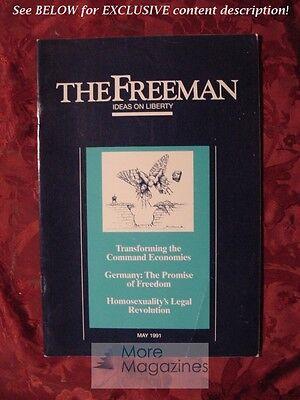 The Freeman May 1991 James A  Maccaro Hans F Sennholz John Hood James L  Payne