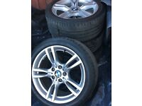Bmw 400m alloys, 2 front new tyres