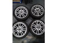 "Subaru WRX STI Alloy Wheels 18"" with Winter Fortuna Tyres"