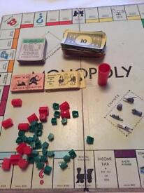 Vintage 1960 Monopoly with Die-cast tokens