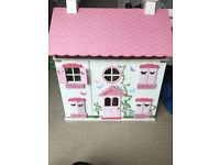 wooden dolls play house