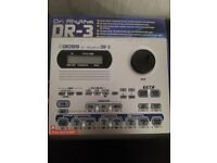 Boss DR-3 drum machine and Boss FS-6 footswitch both brand new .