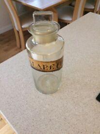 Chemist vintage storage jar