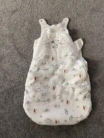 Baby sleeping bag 0-6mths, 2.5 tog