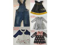 Baby girl dresses and dungarees 3/3-6 months