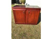 Small mahogany finish sideboard (can deliver)