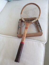 Vintage Dunlop Maxply Tennis Racquet with original gut
