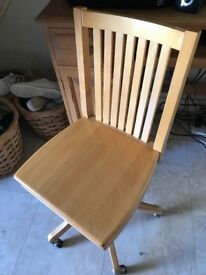 Solid wood office chair **reduced £15**