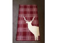 Red check stag rug