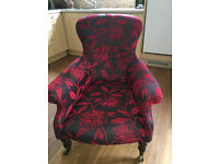 Marvellous Quality Antique Victorian Large Deep Club Fireside Library Armchair with Turned legs