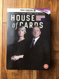House of Cards DVDs Seasons 1-3