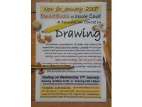 Learn how to draw with confidence at Insole Court, Llandaff, Cardiff