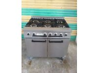 Falcon six 6 burner cooker commercial cooker with oven NAT GAS cooker restaurant