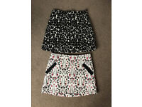 2 ladies Top Shop skirts size 8 great condition womens clothes