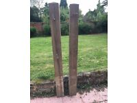 A pair of wooden posts