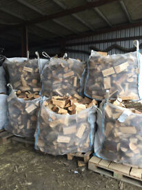 Logs/firewood for sale. Cubic metre bags of seasoned softwood free delivery to local area