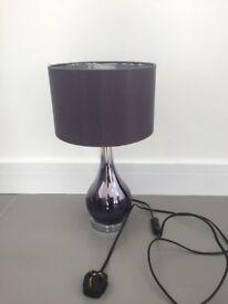 NEXT Mauve bedside lamp