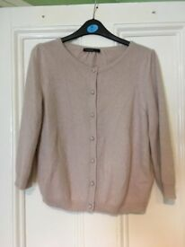 Autograph. Size 12. Light pink buttoned cardigan.