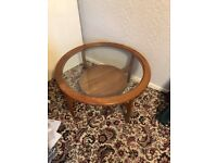 32 inch round glass top table