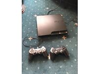 120GB PlayStation 3 slim. 2 X controllers and 7 games. Factory settings like new.