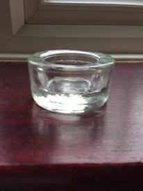 30 glass tea light candle holders ideal for weddings