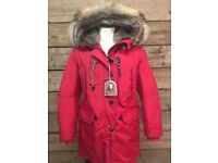 Parajumpers PW JCK MA32 511 Dark red Masterpiece Woman's Parka UK Size Large