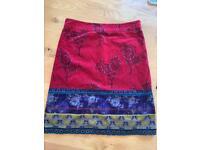 3/4 length white stuff skirt