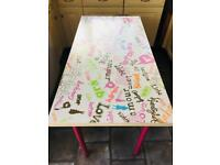 Kids table/desk and 2 chairs
