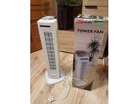 Remote control White tower fan