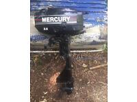 Mercury 2.5hp 2 stroke outboard engine motor