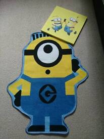 Minion bedroom decoration, rug and canvas