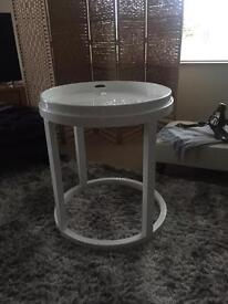 White Gloss Tray Table from sterling