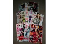 Vintage Vogue magazines x 13