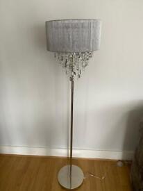 Brand new grey floor lamp