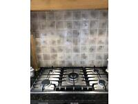 Neff gas hob 5-burner, 90cm wide. Unused.