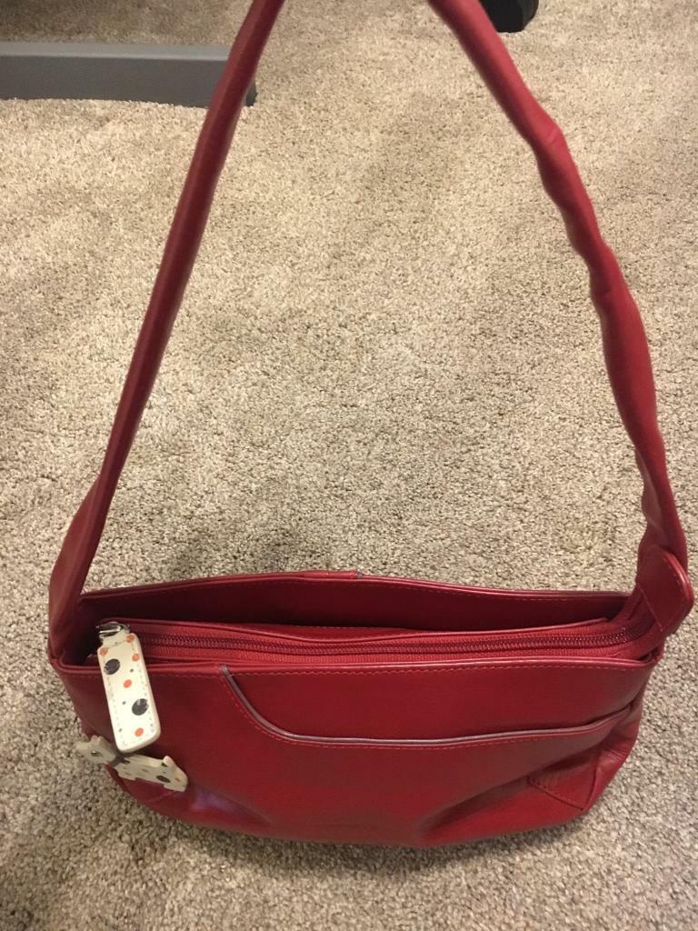 New Radley Red Handbag Rare Dog Tag