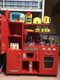 ELC WOODEN KITCHEN AND ACCESSORIES