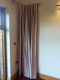 Fully interlined curtains