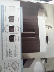 Bathroom vanity unit and sink