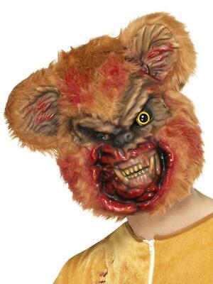 Teddy Bear Halloween Mask (HALLOWEEN ZOMBIE  BEAR TEDDY BEAR WITH ADULT GORY BLOODIED FANCY DRESS MASK)