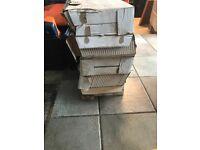 Grey gloss wall tiles brick affect 180